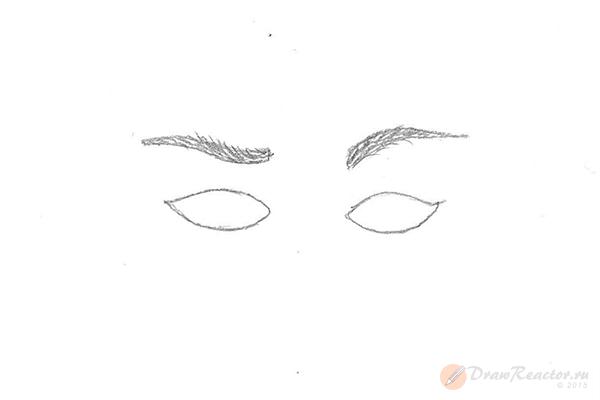 Как рисовать брови. Шаг 4.