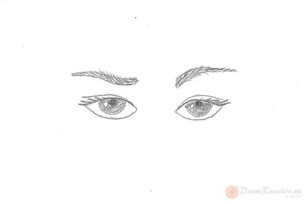 Как рисовать брови. Шаг 5.