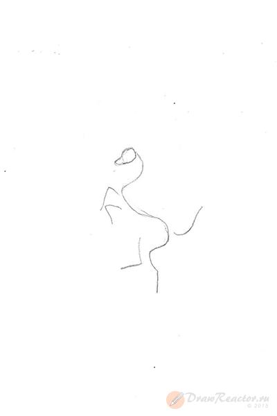 Как нарисовать значок Феррари. Шаг 1.