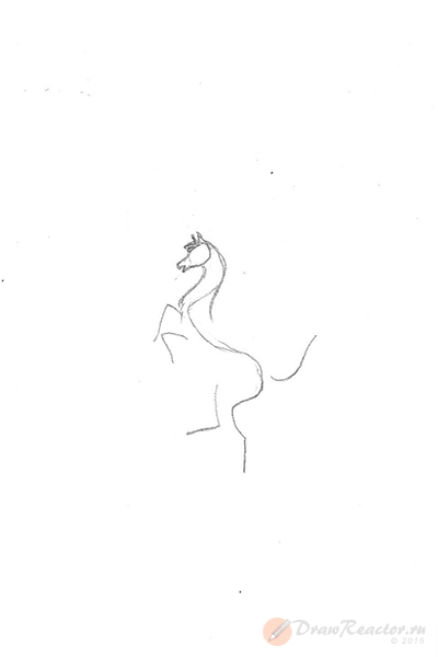 Как нарисовать значок Феррари. Шаг 2.