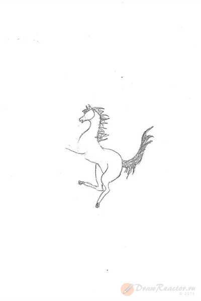 Как нарисовать значок Феррари. Шаг 4.