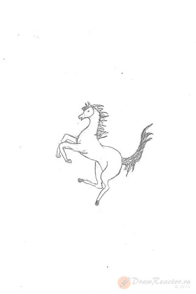 Как нарисовать значок Феррари. Шаг 5.