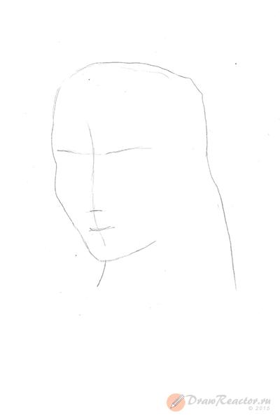 Как нарисовать Джека Воробья. Шаг 2.