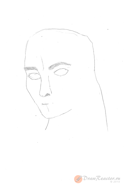 Как нарисовать Джека Воробья. Шаг 3.