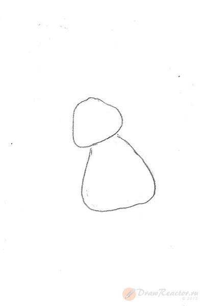 Как нарисовать Лунтика. Шаг 1.