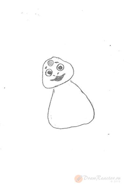 Как нарисовать Лунтика. Шаг 2.