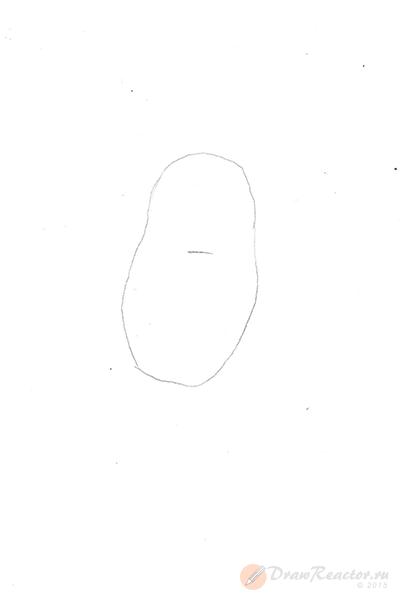 Рисунок совы. Шаг 1.