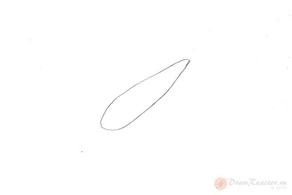 Как нарисовать самолёт. Шаг 1.