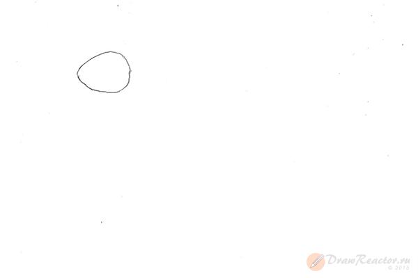 Как нарисовать кролика. Шаг 1.