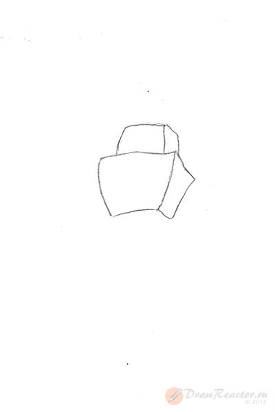 Как нарисовать робота. Шаг 1.
