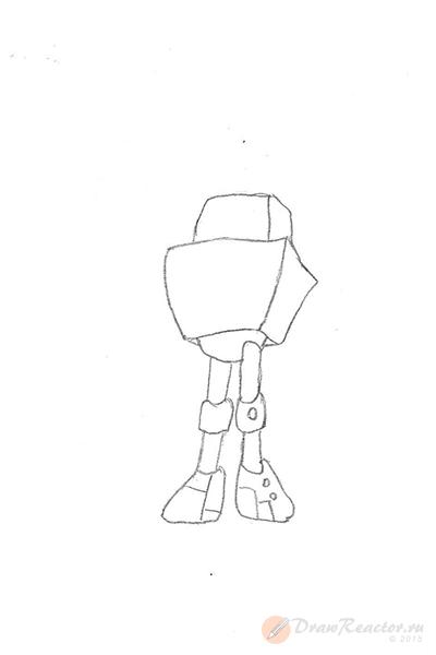 Как нарисовать робота. Шаг 2.