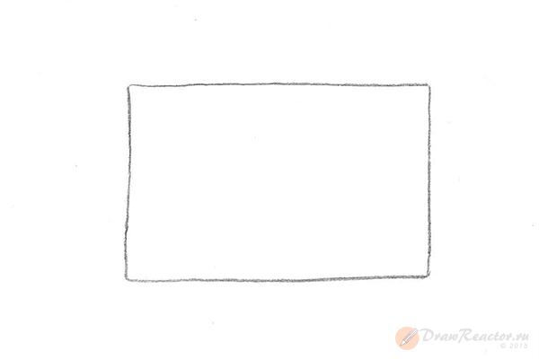 Как нарисовать комнату. Шаг 1.