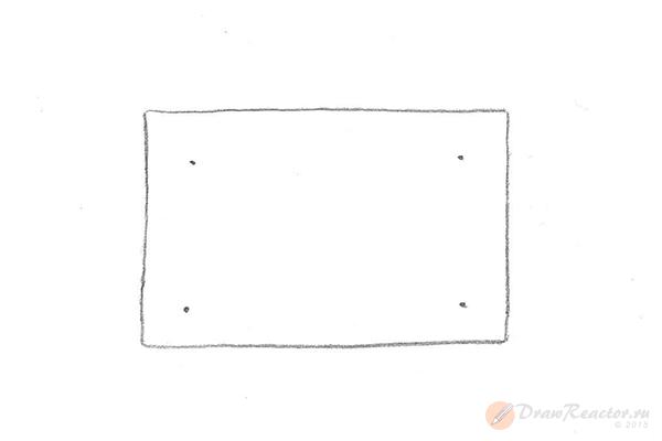 Как нарисовать комнату. Шаг 2.