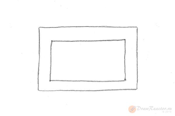 Как нарисовать комнату. Шаг 3.