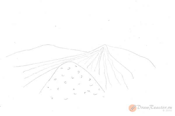 Как нарисовать песок. Шаг 2.