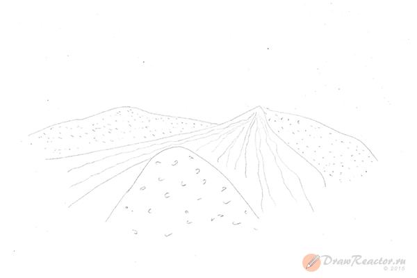 Как нарисовать песок. Шаг 3.