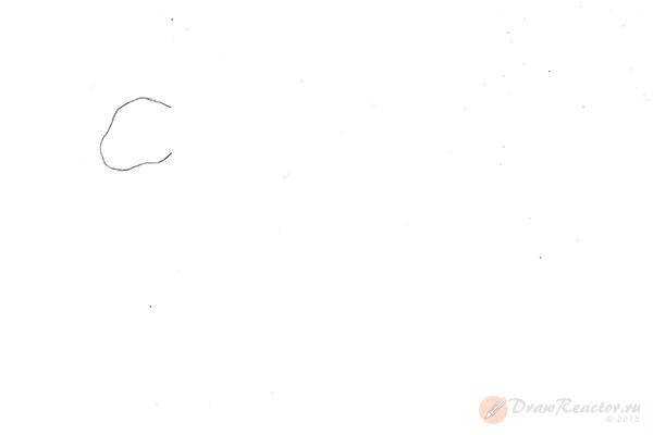 Рисунок тигра. Шаг 1.