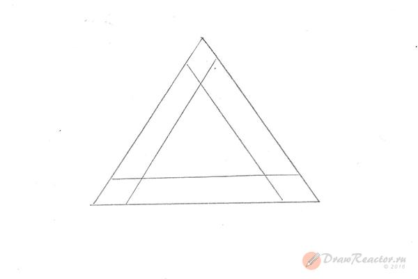 Как нарисовать 3d рисунок. Шаг 2.