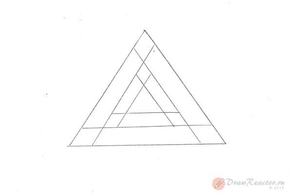 Как нарисовать 3d рисунок. Шаг 3.