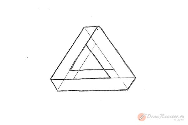 Как нарисовать 3d рисунок. Шаг 5.