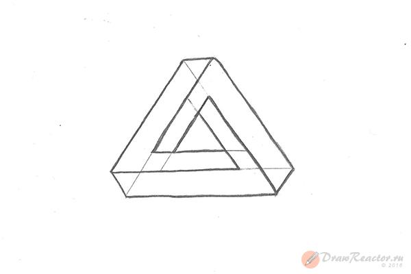 Как нарисовать 3d рисунок. Шаг 6.