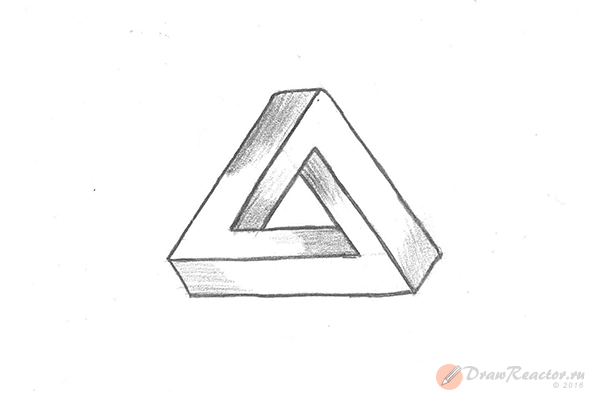 Как нарисовать 3d рисунок. Шаг 7.