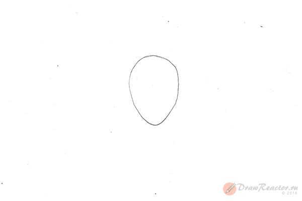 Как нарисовать аниме девушку. Шаг 1.