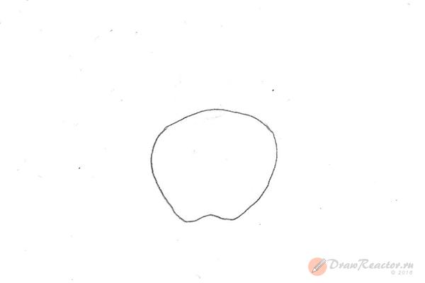 Рисунок яблока. Шаг 1.