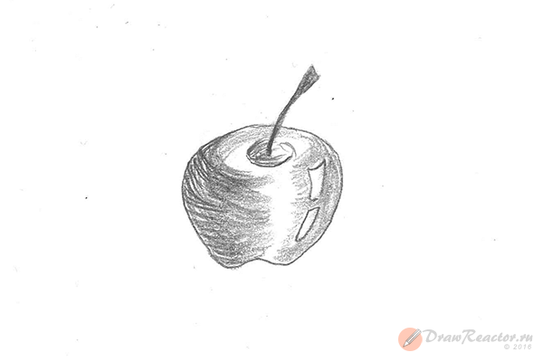 Рисунок яблока. Шаг 5.