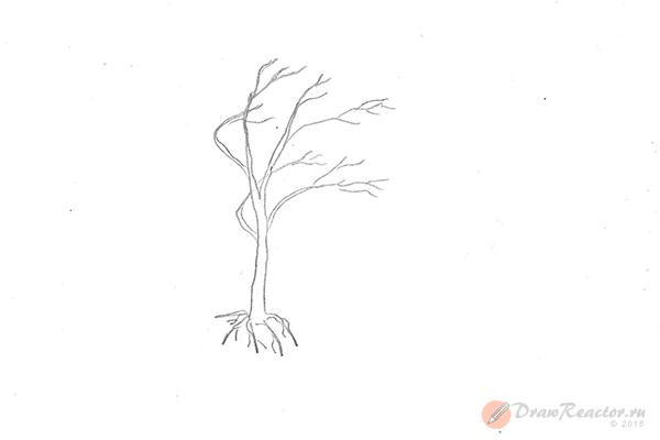Как нарисовать осень. Шаг 2.