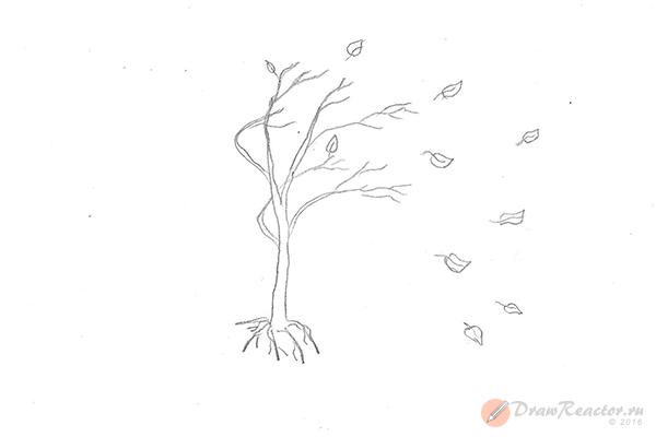 Как нарисовать осень. Шаг 3.