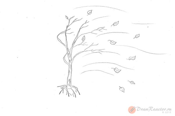 Как нарисовать осень. Шаг 4.
