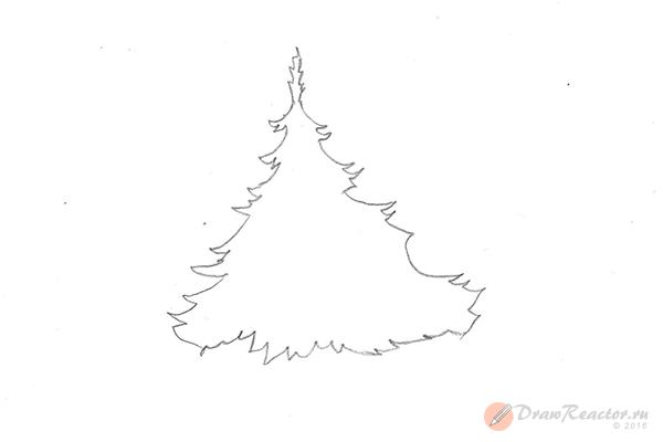 Рисунок елки. Шаг 4.