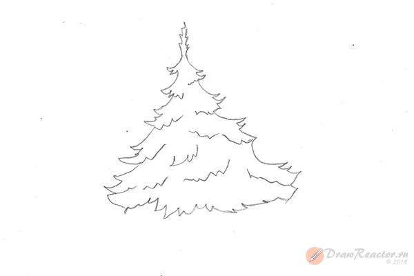 Рисунок елки. Шаг 5.