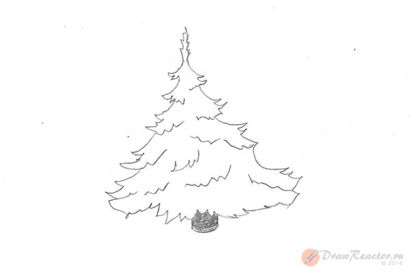 Рисунок елки. Шаг 6.