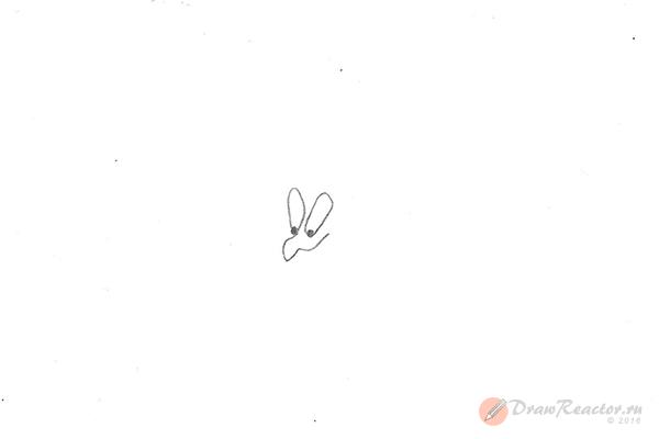 Рисунок джина. Шаг 1.