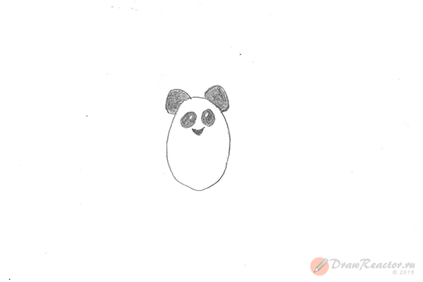 Рисунок панды. Шаг 2.