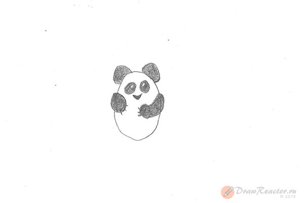 Рисунок панды. Шаг 3.