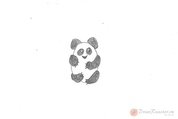 Рисунок панды. Шаг 4.