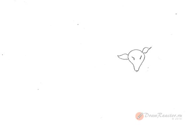 Как нарисовать барана. Шаг 2.