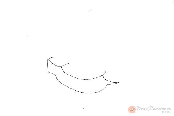 Как нарисовать корабль. Шаг 2.