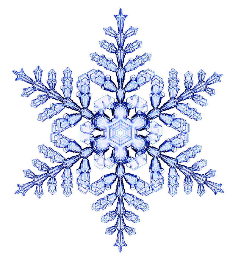 Снежинки на картинку, своими