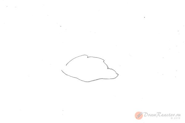 Как нарисовать лебедя. Шаг 1.