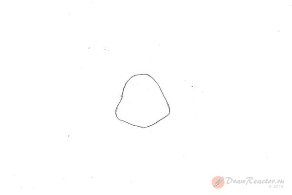 Как нарисовать черепашку-ниндзя. Шаг 1.