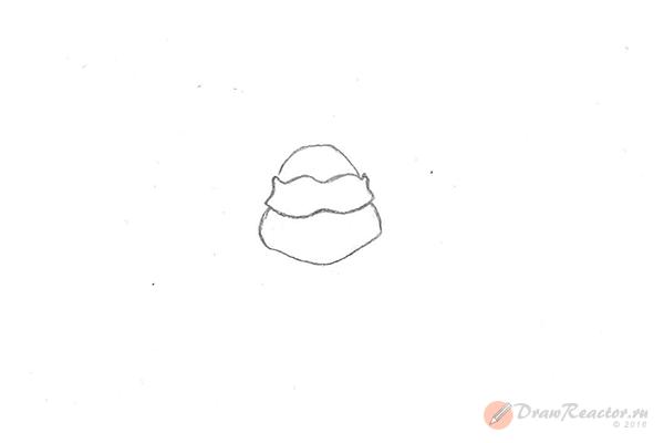 Как нарисовать черепашку-ниндзя. Шаг 2.